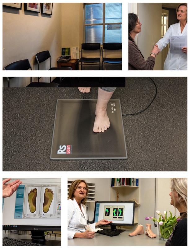 Uw 1e bezoek bij de podotherapeut.